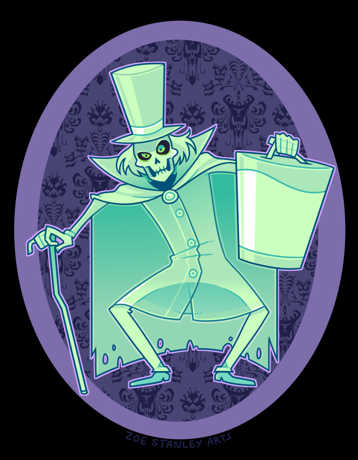 Haunted mansion ghosts on disneyland ride vehicles clipart jpg library Hatbox Ghost by ZoeStanleyArts on DeviantArt | Haunted Mansion ... jpg library
