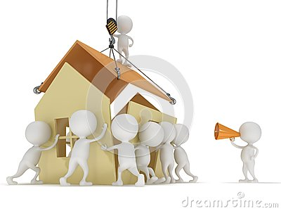 Haus bauen clipart image transparent library 3D House/ People Concept... Royalty Free Stock Images - Image ... image transparent library