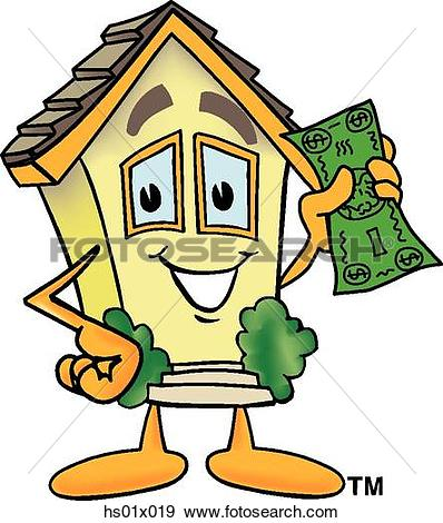 Haus bauen clipart svg library download Clipart of House With A Sold Sign hs01x001 - Search Clip Art ... svg library download