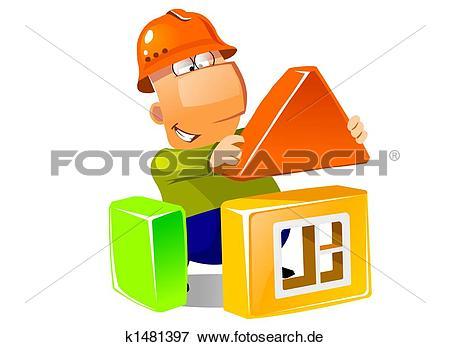 Haus bauen clipart picture transparent stock Stock Illustration - bauen hauses, mit, aufbau, modules k1481397 ... picture transparent stock