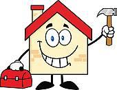 Haus bauen clipart jpg free Handyman Clip Art - Royalty Free - GoGraph jpg free
