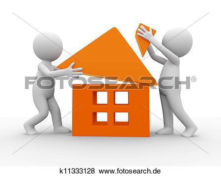Haus bauen clipart free stock Stock Illustration - bauen, a, haus k11333128 - Suche Clip Art ... free stock