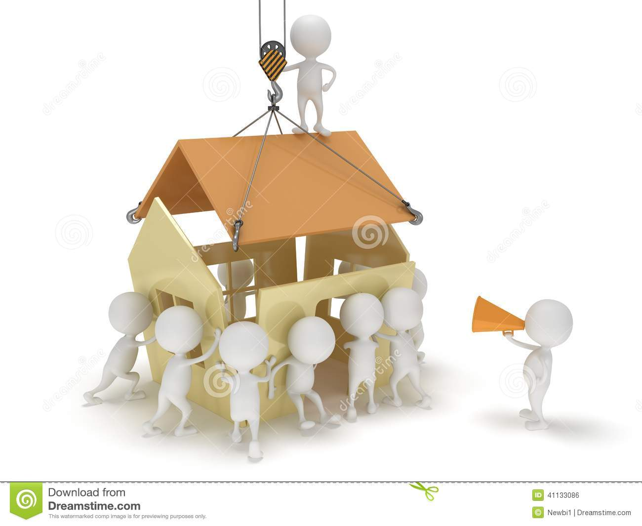 Haus bauen clipart picture free download 3D House/ People Concept... Royalty Free Stock Images - Image ... picture free download