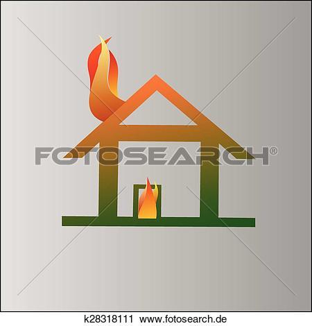 Haus brennt clipart png transparent library Clipart - brennen haus, symbol k28318111 - Suche Clip Art ... png transparent library