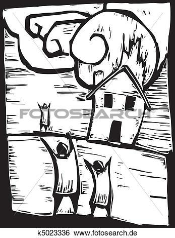 Haus brennt clipart image library Clip Art - brennen haus k5023336 - Suche Clipart, Poster ... image library