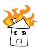 Haus brennt clipart vector library House Fire Clipart | Clipart Panda - Free Clipart Images vector library