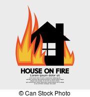 Haus brennt clipart clip art stock Vektoren von feuer, haus - karikatur, abbildung, Ausstellung, a ... clip art stock