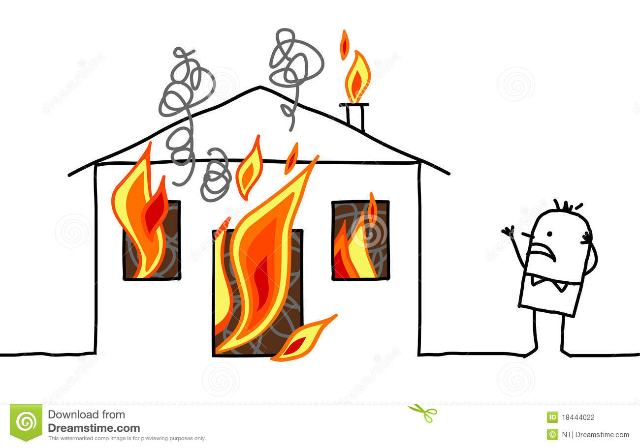Haus brennt clipart clipart free library Cartoon House On Fire | Clipart Panda - Free Clipart Images clipart free library