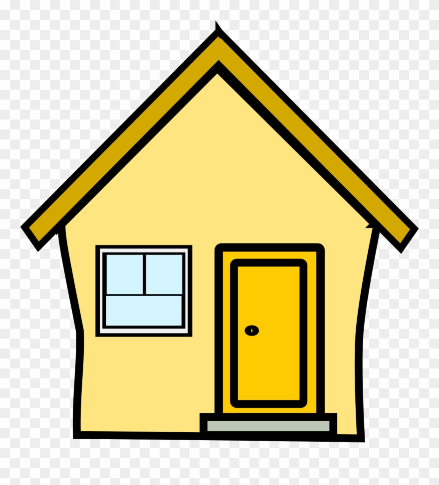 Haus clipart jpg free library Gelbes Haus Yellow House By Polylingua - Yellow House Clipart - Png ... jpg free library