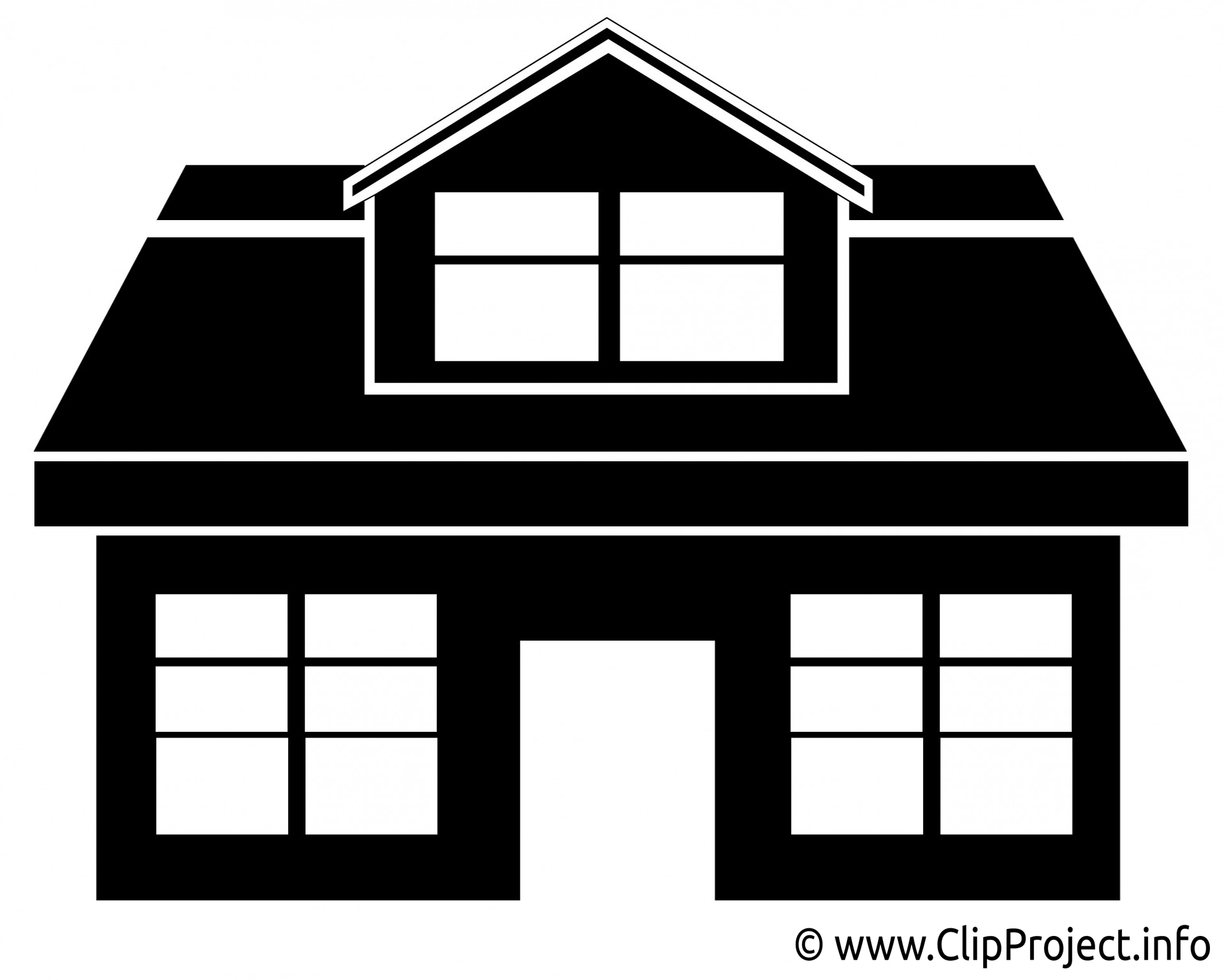 Haus clipart schwarz wei png free Free Premium Cliparts - ClipartFest png free