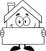 Haus clipart schwarz wei svg transparent Royalty Free House Clip Art - GoGraph svg transparent