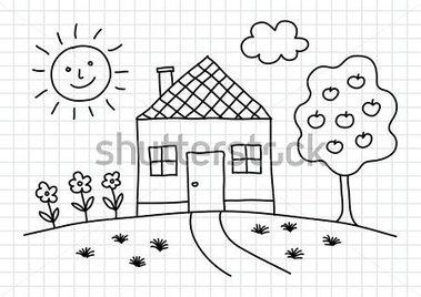 Haus clipart schwarz wei black and white Kindergarten haus clipart - ClipartFest black and white