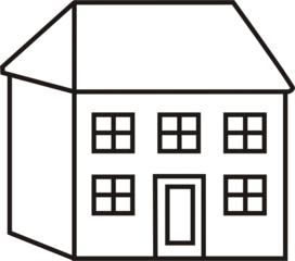 Haus clipart schwarz wei vector transparent Haus clipart schwarz weiß - ClipartFest vector transparent