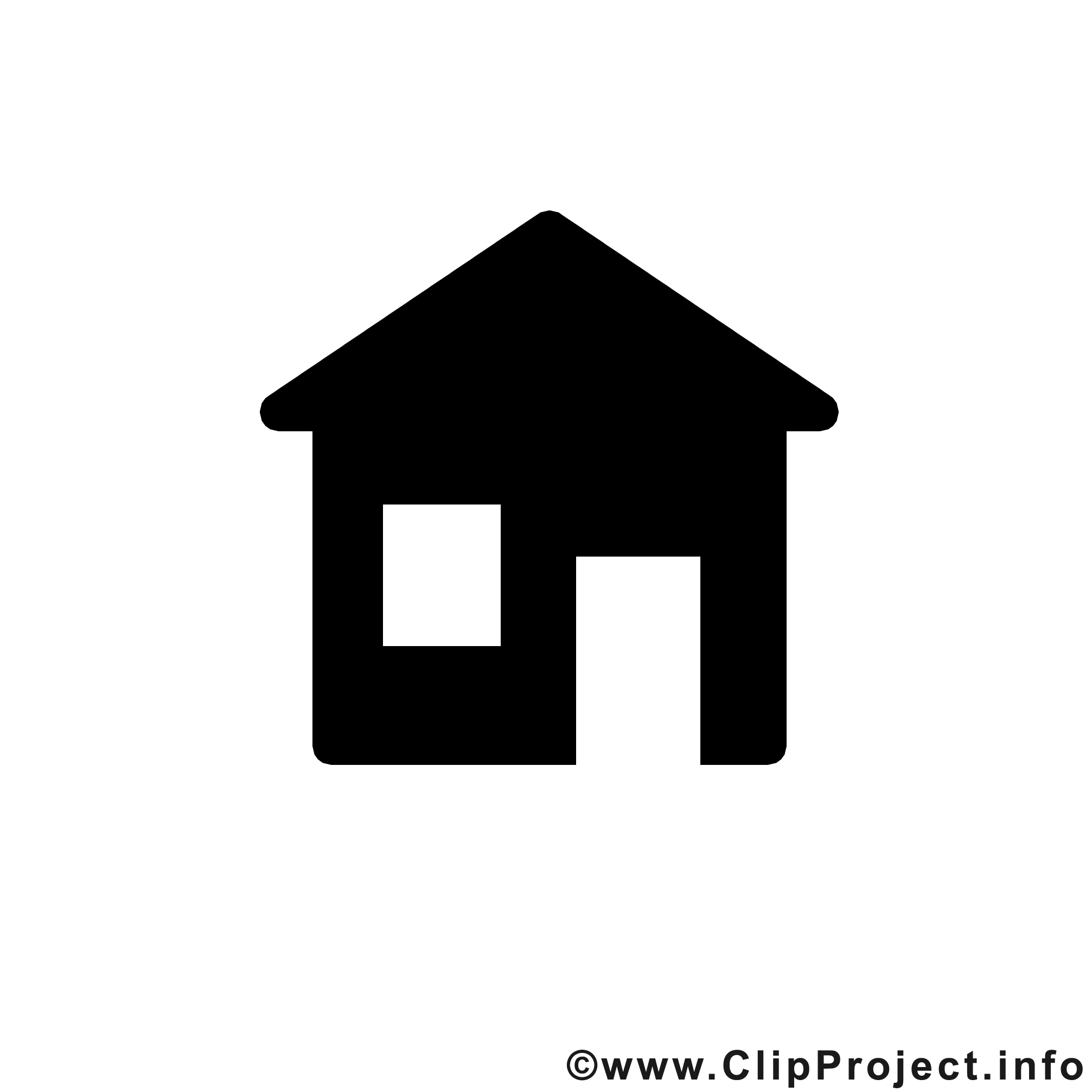 Haus clipart schwarz wei image black and white stock Haus clipart schwarz weiß - ClipartFest image black and white stock