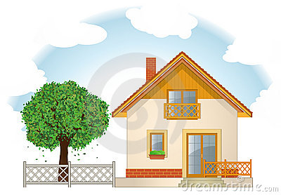 Haus mit garten clipart picture library library Cartoon Smiling Sheep In Love Stock Photo - Image: 15318880 picture library library