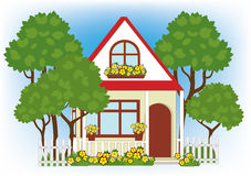 Haus mit garten clipart vector black and white download Small Garden Front Dutch House Stock Illustrations – 161 Small ... vector black and white download