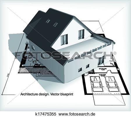 Haus von oben clipart png library stock Clipart - architektur, modell, haus, oben, pläne k17475355 - Suche ... png library stock