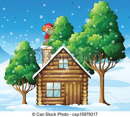 Haus von oben clipart clipart library Vektor Clip Art von stehende, haus, weihnachtshelfer, Oben ... clipart library