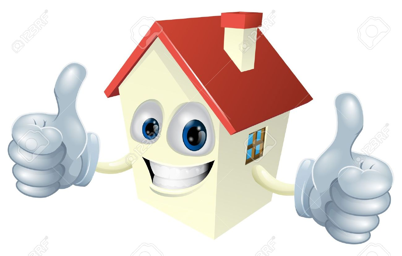 Haus von oben clipart royalty free download Illustration Eines Cartoon-Maskottchen Haus Mit Einem Doppelklick ... royalty free download