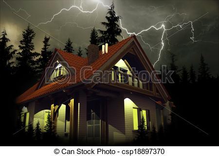 Haus von oben clipart clip art royalty free Stock Illustrationen von haus, sturm, Oben - sturm, Oben, der ... clip art royalty free