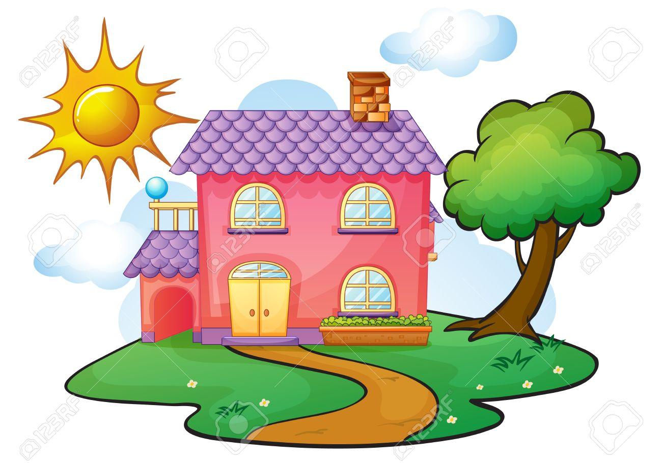 Haus von oben clipart image stock Kindergarten haus clipart - ClipartFest image stock