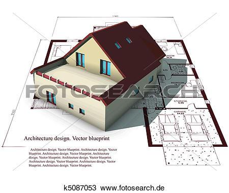 Haus von oben clipart clipart stock Clipart - architektur, modell, haus, oben, pläne k5087053 - Suche ... clipart stock