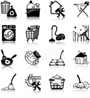 Hauswirtschaft clipart kochen clip art black and white Hauswirtschaft Symbole stock-vektorgrafiken - Clipart.me clip art black and white