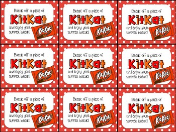 Have a break have a kit kat clipart jpg freeuse Kit Kat End of Year Gift Tag-Break off a piece of KitKat and enjoy your  summer jpg freeuse