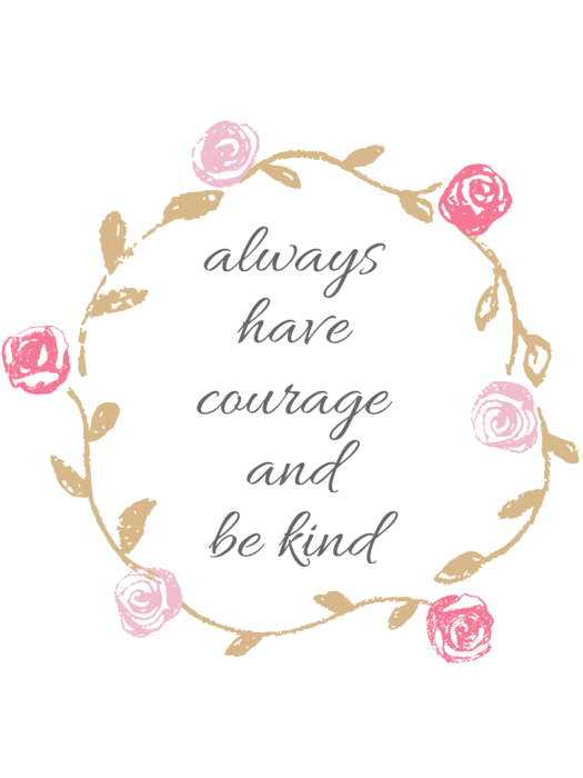 Have courage and be kind clipart jpg free download Always Have Courage And Be Kind Greeting Card jpg free download
