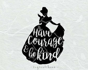 Have courage and be kind clipart banner library library Have Courage and Be Kind SVG File Svg Silhouette Cut File Cricut ... banner library library