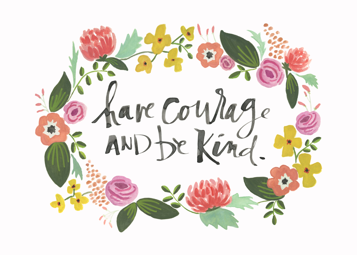 Have courage and be kind clipart banner transparent Have Courage and Be Kind — Laura Miller Studio banner transparent