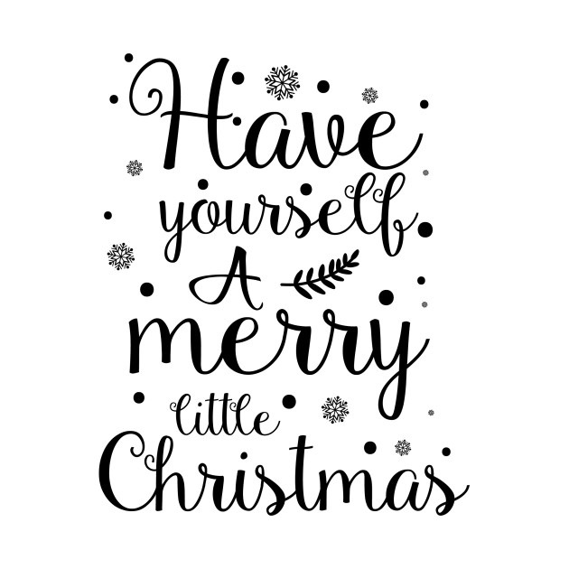Have yourself a merry little christmas clipart png free Have Yourself a Merry Little Christmas Holiday Typography Decor png free