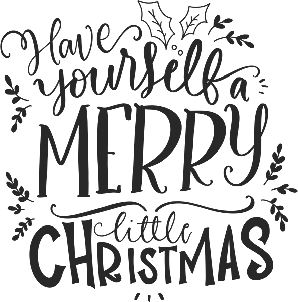 Have yourself a merry little christmas clipart vector library S50038 \