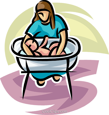 Having a baby clipart svg download newborn baby having a bath Royalty Free Vector Clip Art illustration ... svg download