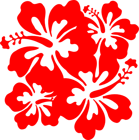 Hawiian flower clipart vector black and white Red Hawaiian Flower red flower clipart hibiscus pencil and in color ... vector black and white