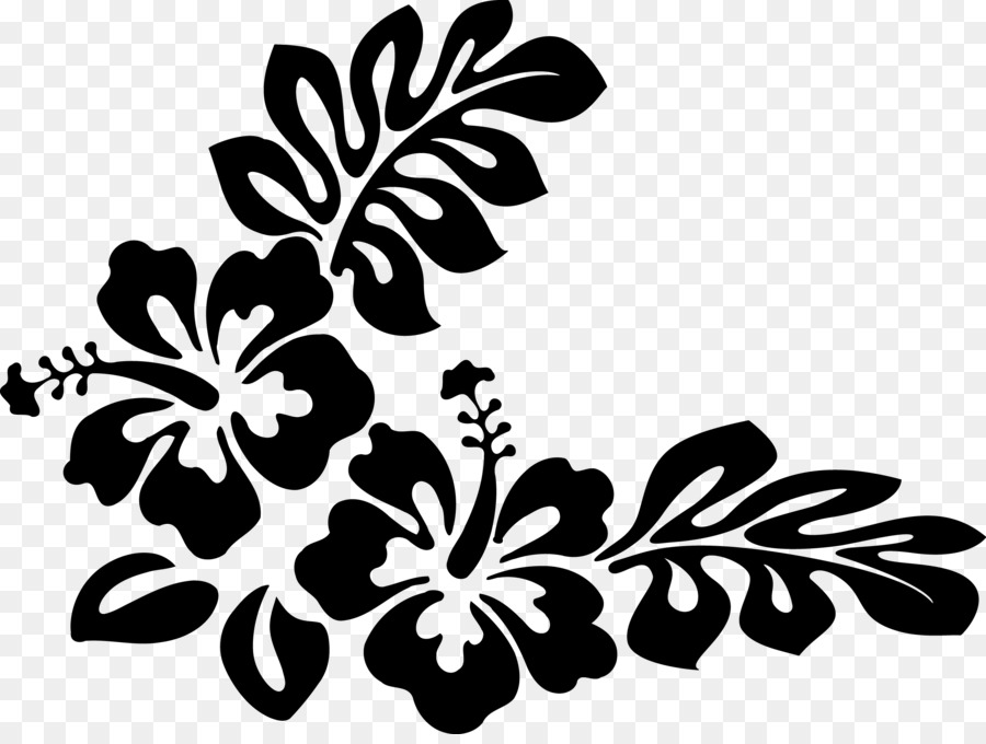 Hawaii black and white clipart royalty free Black And White Flower png download - 2361*1760 - Free Transparent ... royalty free