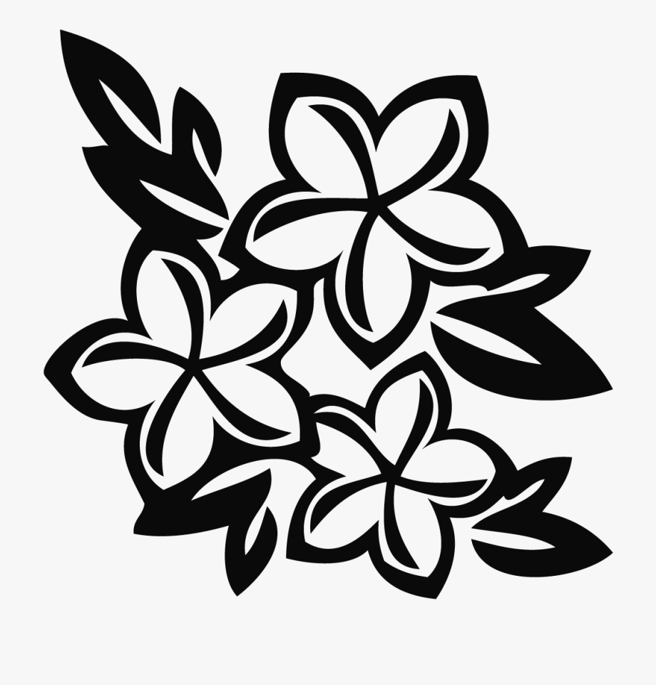 Hawaii black and white clipart picture freeuse library Hawaiian Flower Clipart - Hawaiian Flowers Black And White Clip Art ... picture freeuse library