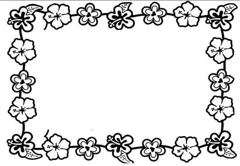 Hawaii flower border clipart black and white clip library download Free Hawaiian Border Cliparts, Download Free Clip Art, Free Clip Art ... clip library download