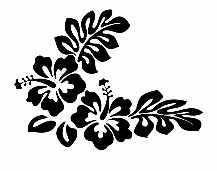Hawaii flower border clipart black and white banner library download Flower Clipart Black And White - Hawaiian Flowers Clip Art Black And ... banner library download
