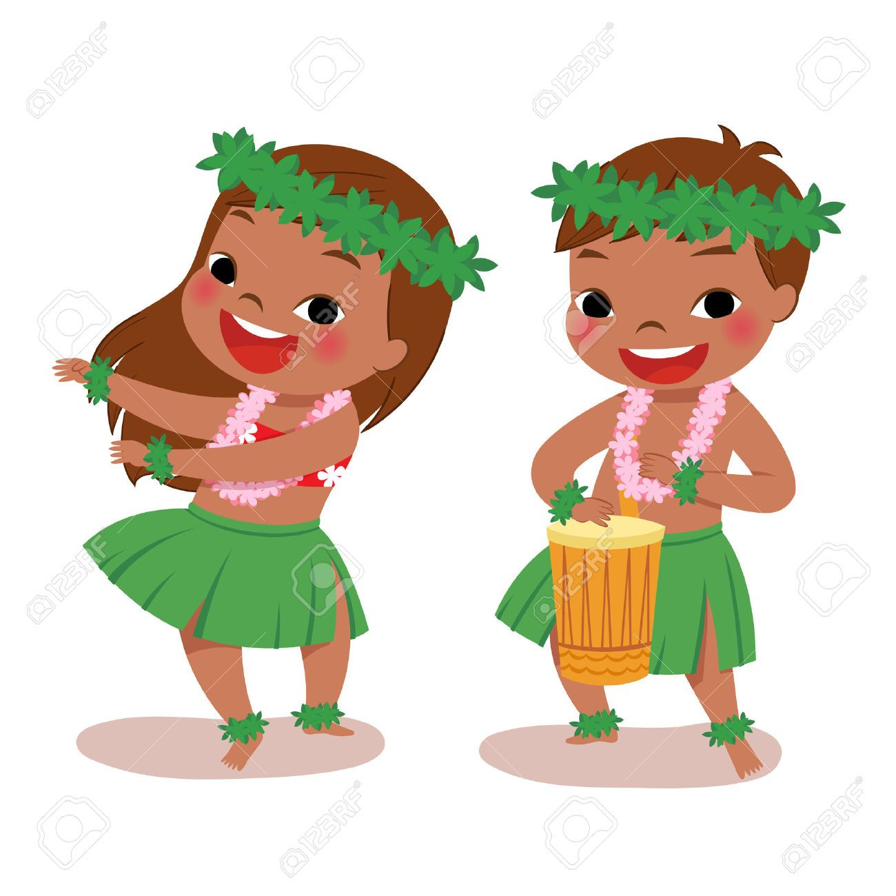 Hawaiian boy clipart clipart free stock hawaiian boy playing drum hawaiian girl hula clipart | summer ... clipart free stock