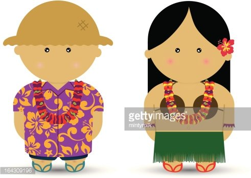 Hawaiian boy clipart png free stock Hawaiian Boy & Girl premium clipart - ClipartLogo.com png free stock