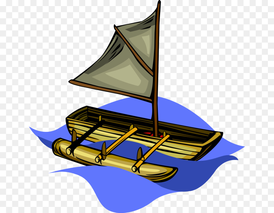 Hawaiian canoe clipart vector transparent download Boat Cartoon clipart - Boat, Sailing, Ship, transparent clip art vector transparent download