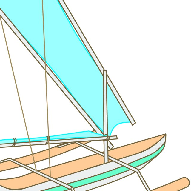 Hawaiian canoe clipart banner freeuse Double-outrigger canoe of the type found in Indonesia. This drawing ... banner freeuse