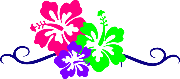 Hawaiian hibiscus flower clipart graphic royalty free download Hawaiian Flower Clip Art Borders | Clipart Panda - Free Clipart Images graphic royalty free download
