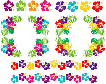 Lei border clipart clip black and white library Free Hawaiian Border Cliparts, Download Free Clip Art, Free Clip Art ... clip black and white library