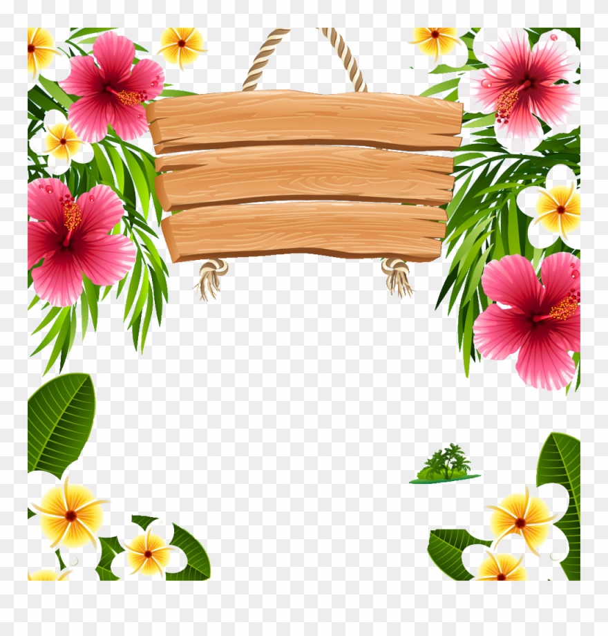 Hawaiian frame clipart jpg free download Hawaii Picture Frames Clip - Png Download (#1295560) - PinClipart jpg free download
