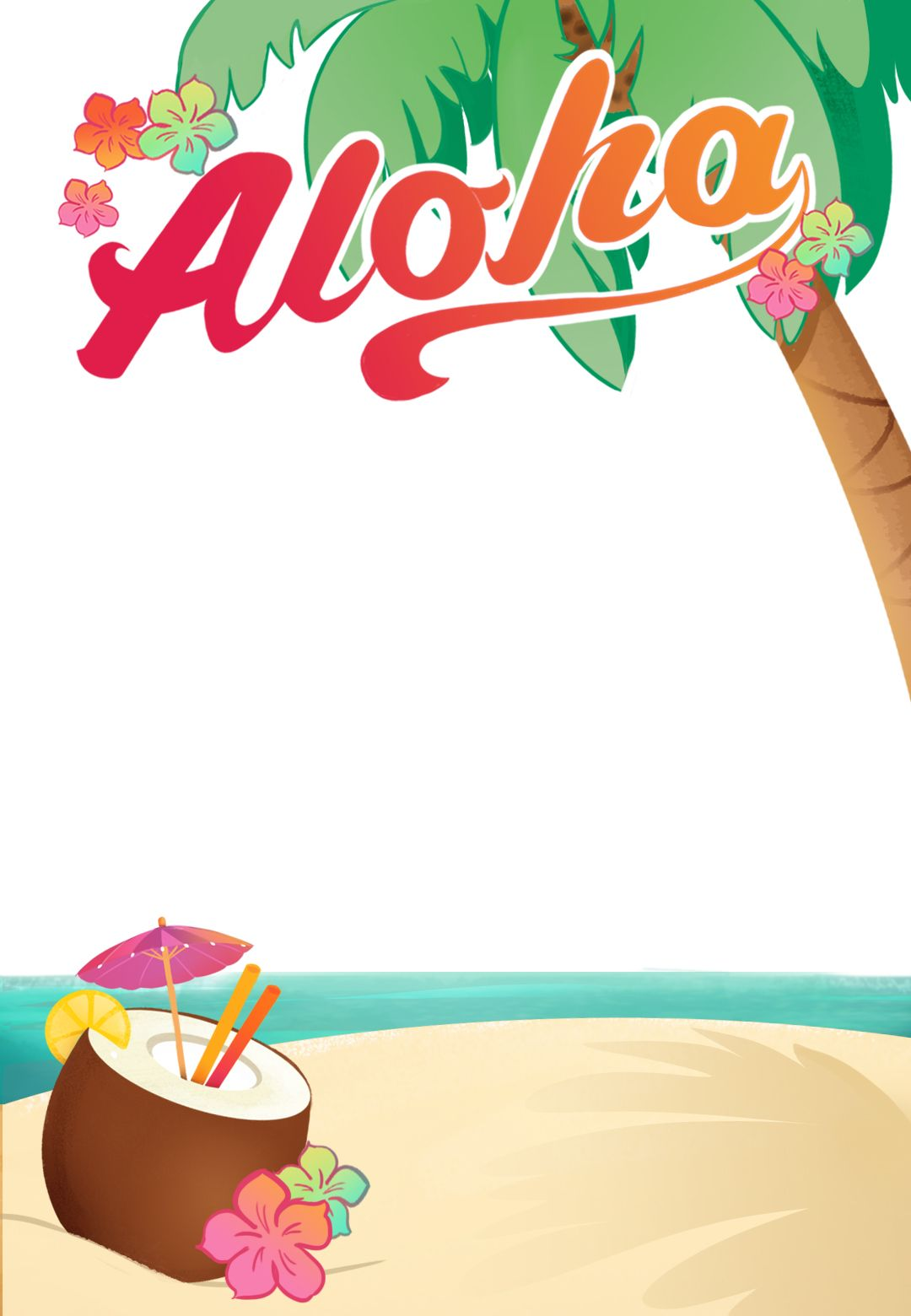 Hawaiian luau party clipart clip art download Luau Party - Free Printable Summer Party Invitation Template ... clip art download