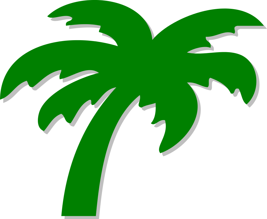 Palm tree clipart vector graphic File:Palm tree symbol.svg - Wikimedia Commons graphic
