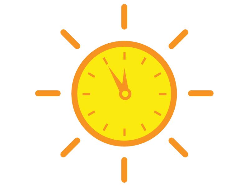 Sun clock clipart
