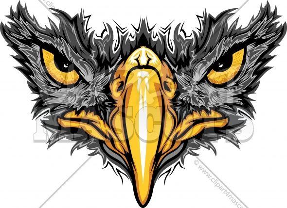 Hawk logo clipart clipart freeuse download hawk clipart | Black Hawk Logo Clipart Vector Mascot Image | CHEER ... clipart freeuse download
